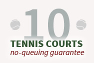 Green Point Tennis Club has 10 excellent courts